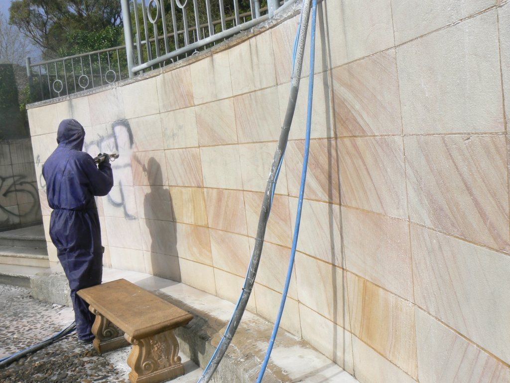 Removing Graffiti From 30 Square Meter Wall